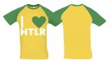 Raglan T-Shirt - I love HTLR - Gold/KellyGreen